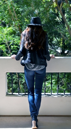 Alexis Leather Jacket Back
